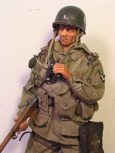 WWII US Army 101st Airborne trooper...