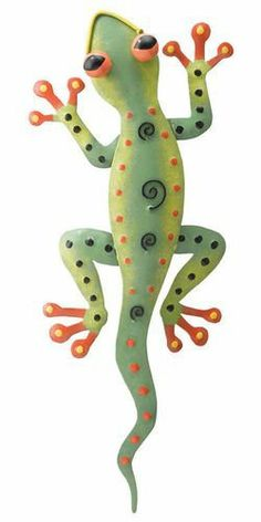Tropical Green Gecko Lizard Metal Art Wall Decor by Regal Art & Gift. $14.99. metal wall hanger. Approx 4.5 inches x 11 inches wide. legs can be positioned to use as tabletop or wall decor. Tropical Gecko Lizard Wall Decor Metal Wall Art. Save 12% Off!