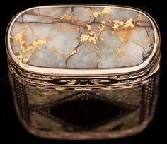 Silver Smalls:Match Safes, A SHREVE & CO. 14K GOLD AND GOLD QUARTZ MATCH SAFE, SanFrancisco, California, circa 1890. 2-1/4 inches high (5.7 cm). 2.00... Image #2