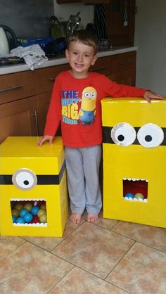 Minion games from cardboard boxes