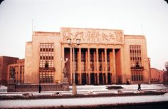 Cold War camera: 1950s Berlin in color. his is the Haus des Sports, on Stalinallee (now Karl-Marxallee) built for the World Festival of Youth and Students in 1951 and demolished in 1971.