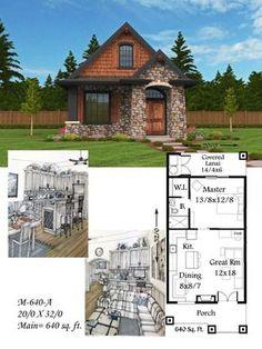 """Mark Stewart Home Design Plan # (M-640-A """"Montana"""")"""