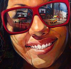 Portrait ~ by Yunior Hurtado, oil painting Pintura Graffiti, Don Corleone, Reflection Art, Art Tumblr, Oil Portrait, Painting Portraits, Oil Paintings, Hyperrealism Paintings, Painting Words