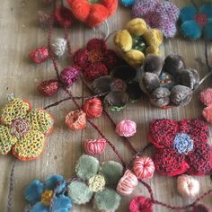 Sophie Digard exquisite necklaces are starting to arrive at Loop. Hand crocheted in linen and bits of embroidered velvet