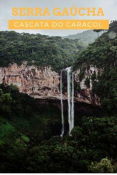 Bondinhos aéreos: uma vista privilegiada da Cascata do Caracol em Canela - RS