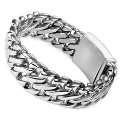 Justeel Jewelry Mens Silver 316l Stainless Steel Bracelet Links Hand Chain Justeel Jewelry. $69.99. Excellent Luster and Unimpeachable Rust and Corruption Resistance. Shipping takes 2-3 weeks from China (USPS Tracking). Size HxWxL: x1.0x8.9inch; (x26x225mm). 100% Nickel free. Save 75%!