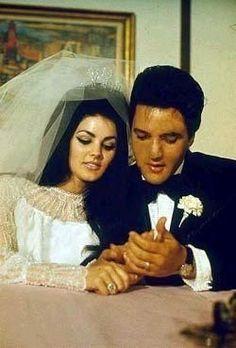 Priscilla and Elvis Presley