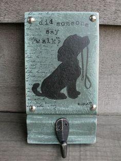 Dog leash holder, Functional Art, Dog Leash Hook, Dog Leash Hanger, Dog Art
