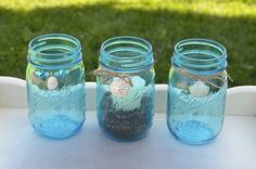 After you dye your jars with food coloring, here's how to dress them up!