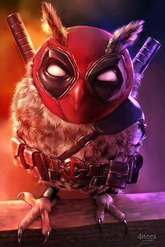 Deadpool Owl by 4steex