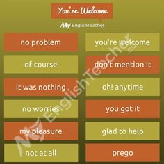 Other ways to say you're welcome