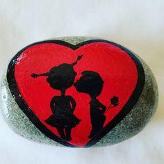 Valentines Painted Rock