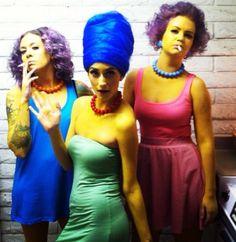 #halloween #simpsons #diy marge, Selma & patty! Simpsons costume
