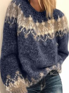 Casual Sweaters, Pullover Sweaters, Sweaters For Women, Fair Isle Sweaters, Cardigans, Oversized Sweaters, Fair Isle Pullover, Vintage Knitting, Sock Knitting
