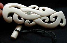 Maori bone carving pendant