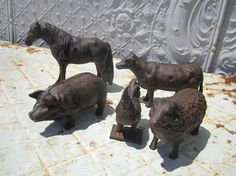 https://s-media-cache-ak0.pinimg.com/736x/4e/2d/72/4e2d72df8f39bbf6f166d469b62b9373.jpg Cast Iron Rust, Metal Figurines, Door Stop, Motorcycle Parts, Bar Lighting, Farm Animals, French Country, Brows, Eyebrowns