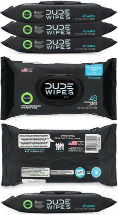 Flushable Moist Dispenser Pack Fragrance Free And Naturally... Dude Wipes