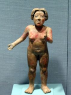 Mexico, Guerrero, Xochipala  Early Formative (1500-1200 BC) Standing woman Clay with hematite inclusions Bequest of Gillett G. Griffin to...
