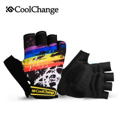 Coolchange ciclismo guantes medio dedo de hombre verano bike guantes mujeres mountain road bike guante transpirable guantes de la bicicleta de ciclismo