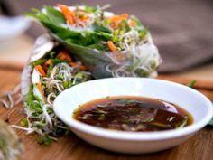 Cristina's Healthy Spring Rolls & Sambal Sauce