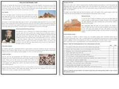 This Reading Comprehension worksheet is suitable for higher elementary to proficient ESL learners or native English speakers. The text describes the possib. Teaching Reading, Teaching Resources, Learning, Pyramid Building, Reading Comprehension Worksheets, Free Education, Learn English, Esl, Speakers