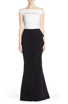 Chiara Boni La Petite Robe 'Melania' Off the ShoulderMermaid Gown available at #Nordstrom