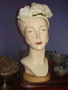 mannequins heads - WE WILL BRING GABBI HEAD but she could have friends that are of the same era