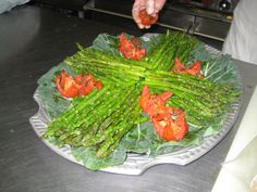 ALACARTE CATERING's Asparagus Platter created for a Meet/Greet. #food #catering #atlanta #alacartecatering #atlantacatering #cateringideas #foodideas #weddingideas #entertaining #fingerfoods #cateringdisplay