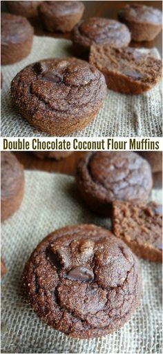 The Cooking Actress: Double Chocolate Coconut Flour Muffins {Gluten-free, Dairy free, Paleo, Low fat}-We can now bake up the perfect healthy breakfast or snack recipe with these muffins!