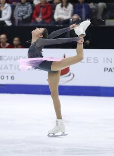 Evgenia Medvedeva of Russia competes in the Women's Singles Free Program during day two of the 2016 Skate Canada International at Hershey Centre on October 29, 2016 in Mississauga, Canada.