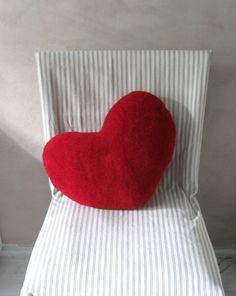 Scandinavian Christmas pillows, Red Accent pillows, Red Heart pillow, Floor pillows, Christmas gifts, Sweater pillows, Kids pillows