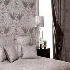 Catherine Martin collection for Mokum, Imperial Pheasant Wallpaper available in 6 colour options.