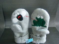 Felted Fleece Mitten Pattern Template   ... sweater is now felted and ...