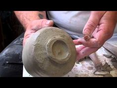 pottery : carving a footring  on a teabowl