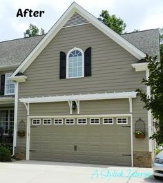 A Stylish Interior Garage Door Makeover Carriage Style