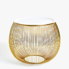 GOLDEN SPHERE SIDE TABLE - FURNITURE - DECORATION | Zara Home United... (600 SAR) ❤ liked on Polyvore featuring home, furniture, tables, accent tables and zara home