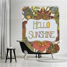 Valentina Ramos - Hello sunshine, Shower Curtain, 180x180