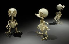 Realistic skeletons of famous cartoon characters by Hyungkoo Lee