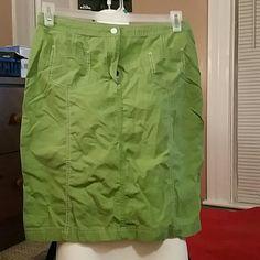 Dark Lime green J.Jill knee Length size 10 skirt Great casual day at the Mall skirt. J. Jill Skirts Midi