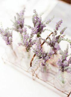 mini lavender vases - kt merry photography | stylemepretty// -  #YorkshireLinen #Dreamduvetcover