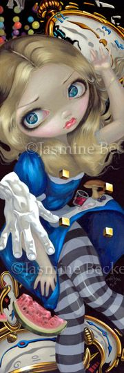 """Alice Down a Dali Rabbit Hole""  Alice in Wonderland Art by Jasmine Becket-Griffith"