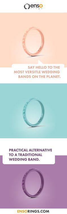 Why not choose a silicone wedding band as vibrant as your love for your partner? With a variety of colors offered, say hello to the most versatile and practical wedding bands on the planet. Find your favorite fashionable color with Enso Rings. A portion of each ring sold would be donated to organizations around the globe