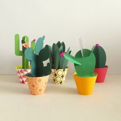 Would work great as party decor too! The whole family of the famous #papercactus @nacasadajoana #supercute