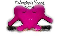 Free Tutorial w. pattern - Valentine's Heart Softie