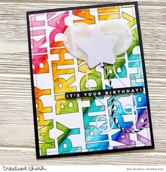 STAMPtember: Happy Birthday | {creative chick} | shurkus.com Happy Birthday Me, It's Your Birthday, Birthday Cards, Scrapbooking Album, Scrapbook Albums, Balloon Shop, Simon Says Stamp Blog, Card Making Inspiration, Clear Stamps