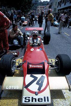 David Walker - Lotus 69 Ford/Novamotor - Gold Leaf Team Lotus - XIII Grand Prix de Monaco Formule 3 1971 - (XXIX Grand Prix Automobile de Monaco - Formula 1) - 1971 Campionato Italiano, Round 5