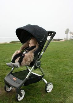 Perfect for days when there's a breeze in the air..... Stokke Scoot with luxe sheepskin liner