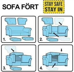 How to make a fort out of a couch