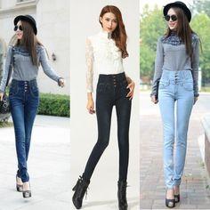 2017 Skinny Thin High Waist Pencil Pants Women