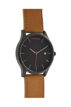 Classic Tan Leather Watch - MVMT - Watches : JackThreads